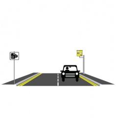 Road speed camera vector
