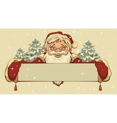 Santa Claus holding a banner vector