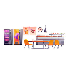 School cafe college canteen dining room stuff vector