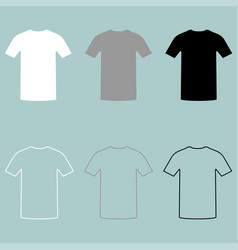 Sport shirts white grey black icon vector