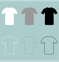Sport shirts white grey black icon vector