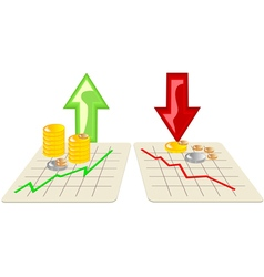 stock market with arrows vector image
