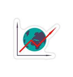 Stylish sticker on paper schedule and globe vector