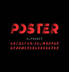 stylized font design alphabet letters and numbers vector image