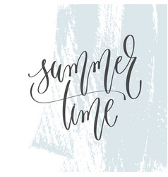 summer time - hand lettering inscription text on vector image