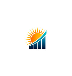 sunshine finance bar results vector image