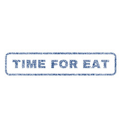 Time for eat textile stamp vector