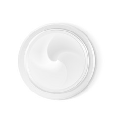 top view hygienic cream vector image