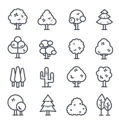 Tree Icon Bold Stroke vector image