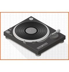 turntable 3d vector image vector image