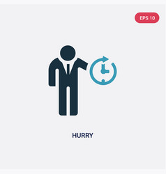 Two color hurry icon from time management concept vector