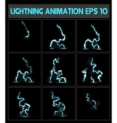 Weblightning animation A lightning strike to the vector