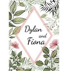 wedding floral watercolor vector image