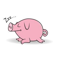 pig sleeping vector image