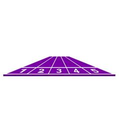 running track in purple design vector image