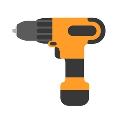 Screwdriver flat Cordless drill electro vector image