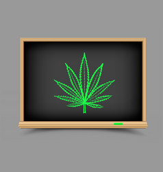 blackboard hemp drug lesson vector image