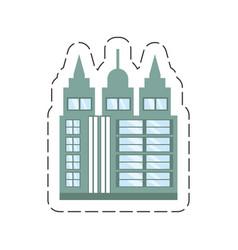 cartoon building skyscraper icon vector image