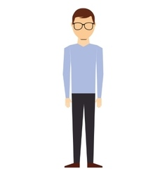 casual young man isolated icon design vector image