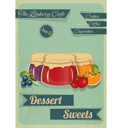 Confectionery Retro Design vector image vector image