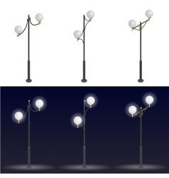 Street lantern Streetlight 3D flat vector image vector image