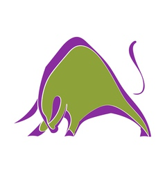 Symbol strong wild bull vector image vector image