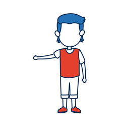 boy son character person in blue and orange vector image