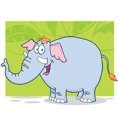 Elephant Cartoon Character vector image vector image