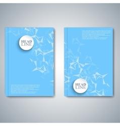 Modern abstract layout brochure magazine flyer vector