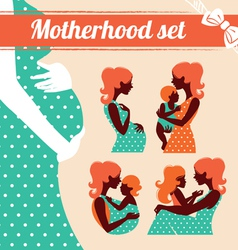 Motherhood set vector image vector image