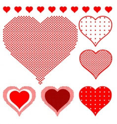 polka dot hearts vector image