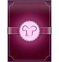 Purple Restaurant Menu Cover vector image