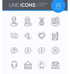 social media - modern line design style icons set vector image