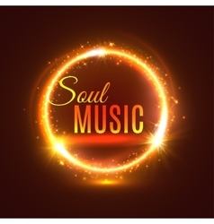 Soul music poster with light shine vector image vector image