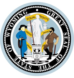 State of Wyoming seal vector image