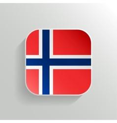 Button - Norway Flag Icon vector image vector image