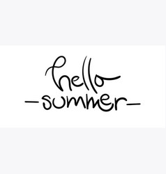 hello summer with unique hand drawn vector image vector image