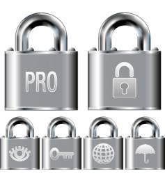 internet security professional icons vector image