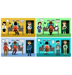 People in the style flat design vector image