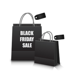 Sale Shopping Bags with Discount for Black Friday vector image