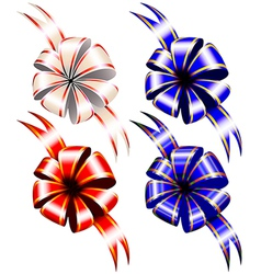 Set of gift bow vector image