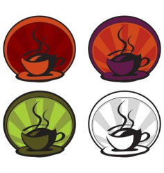 a hot cup of coffee vector image