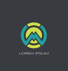 abstract circle m logo vector image