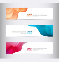 abstract horizontal geometric design banners with vector image