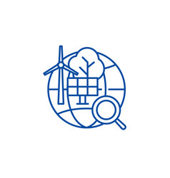 alternative energy line icon concept alternative vector image