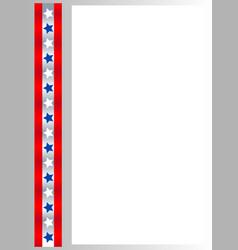 American flag symbols stars ribbon border vector