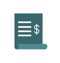 Bill paper account business commerce shopping vector