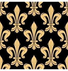 Black and golden fleur-de-lis pattern vector