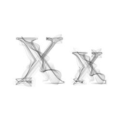 Black smoke font letter x vector