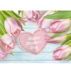 Bouquet of pink tulips EPS 10 vector